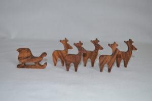 Christmas Sleigh Reindeer