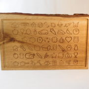 Blue Acorn Engraved Wood Image Board