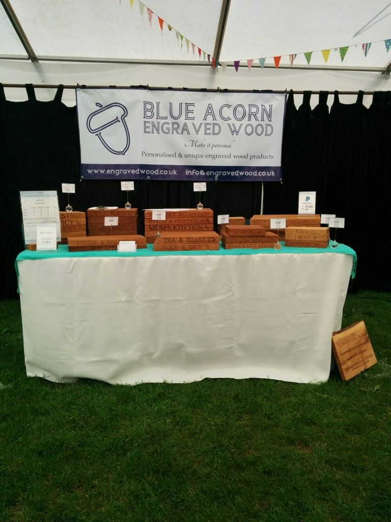 Wooden chopping boards at Malvern Autumn Show