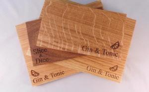 4 slim chopping boards